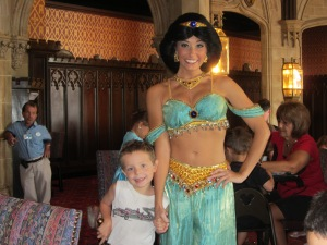 "Matt ""smitten"" with Princess Jasmine."